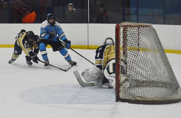 Suffern came back and beat Rye Country Day on a Kyle Foresta penalty shot in overtime Monday, Jan. 21,  2019 at Sport-O-Rama Ice Rinks in Monsey.