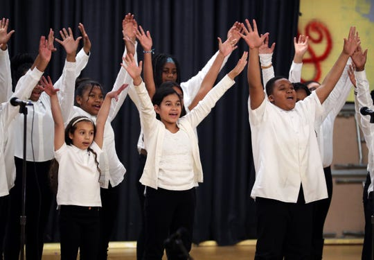The Little Miracles perform during the Unity Celebration and talent showcase honoring Rev. Martin Luther King Jr. at Ramapo High School in Spring Valley Jan. 21, 2019.