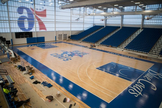 The new home of the Delaware Blue Coats at the 76ers Fieldhouse in Wilmington.