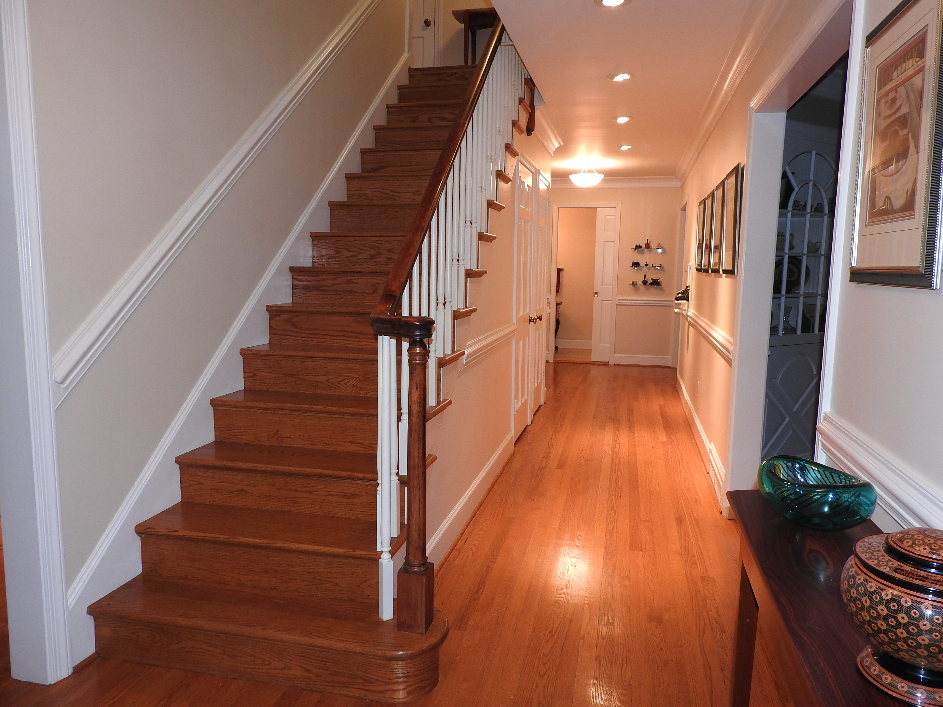 All of the oak floors throughout 103 Edgewood Road in Alapocas have been refinished.