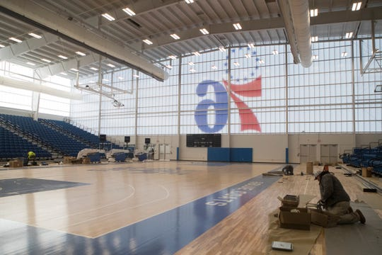 The 76ers Fieldhouse in Wilmington is one of several locations under consideration by state officials to be temporarily transformed into a hospital.