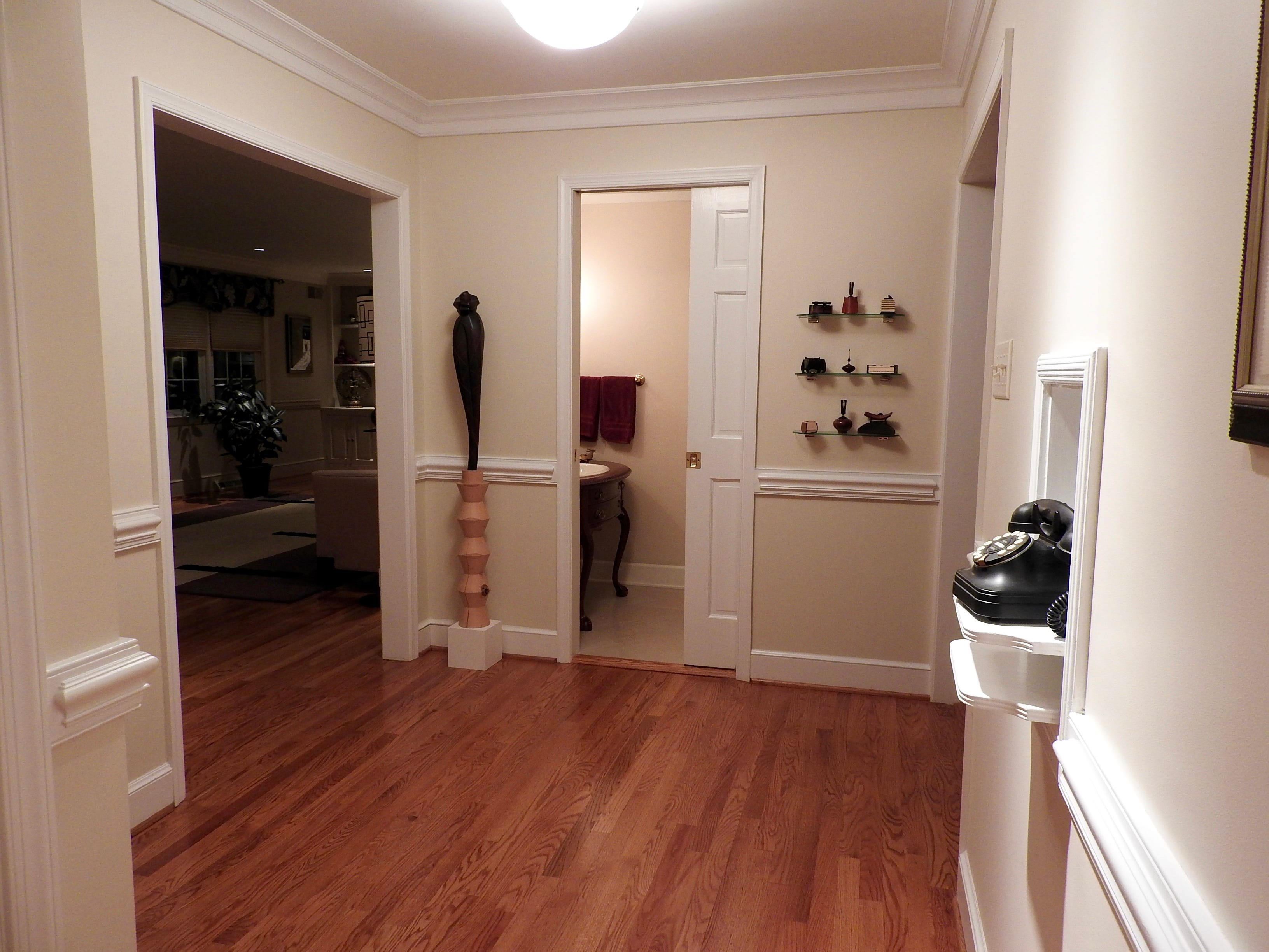 All of the oak hardwood floors have been refinished throughout 103 Edgewood Road in Alapocas.