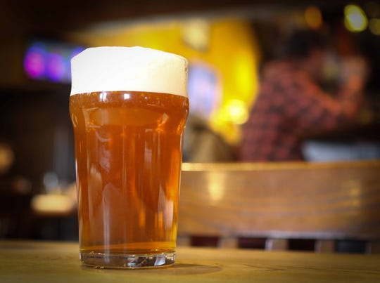 A hand-pulled beer is unique to the The Whip Tavern.