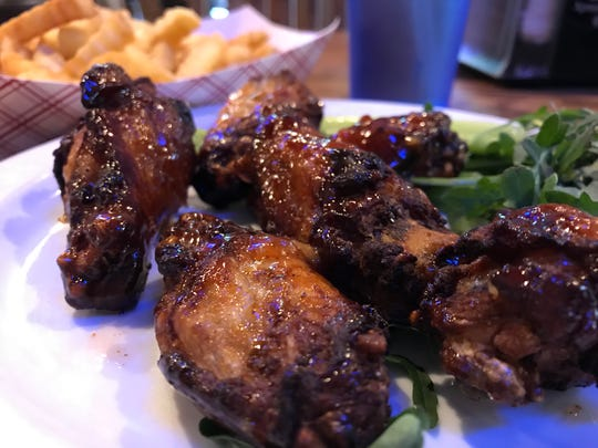 Sweet chili hot wings at Jennings & Co. in Wisconsin Rapids