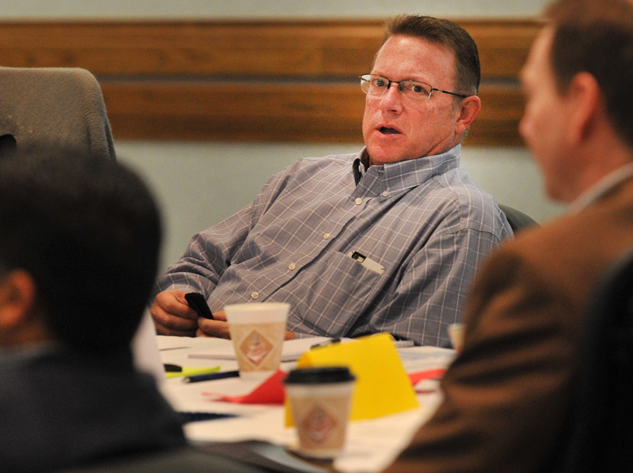 Wichita Falls Deputy City Manager, Jim Dockery spoke during a city planning meeting held at the MPEC, Tuesday morning.
