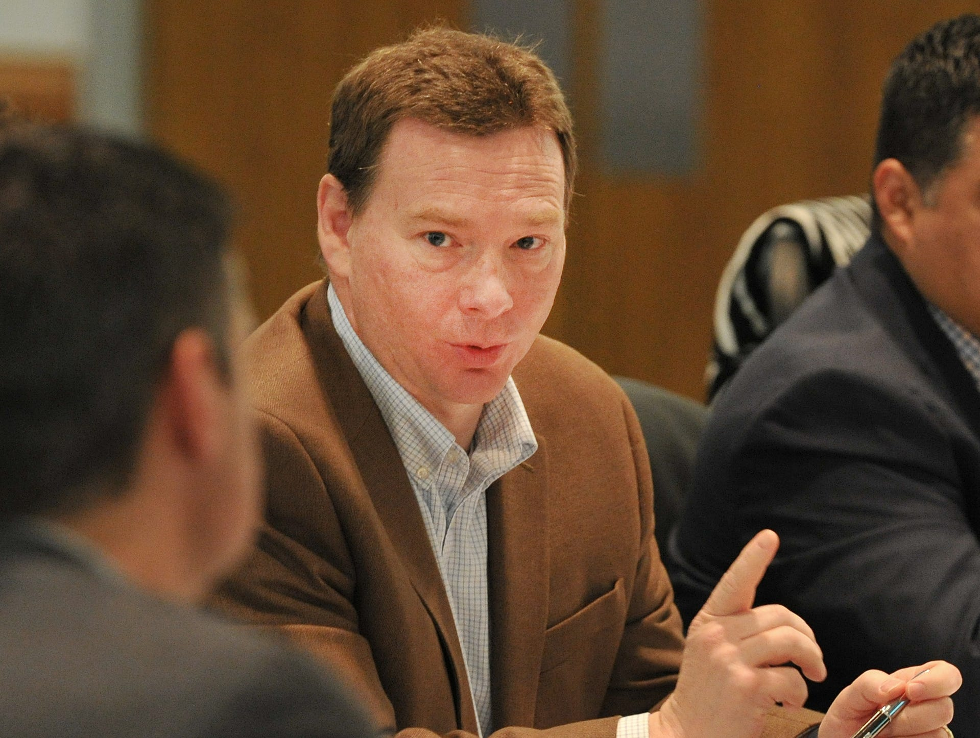 Wichita Falls City Manager, Darron Leiker spoke during city planning meeting held at the MPEC, Tuesday morning.