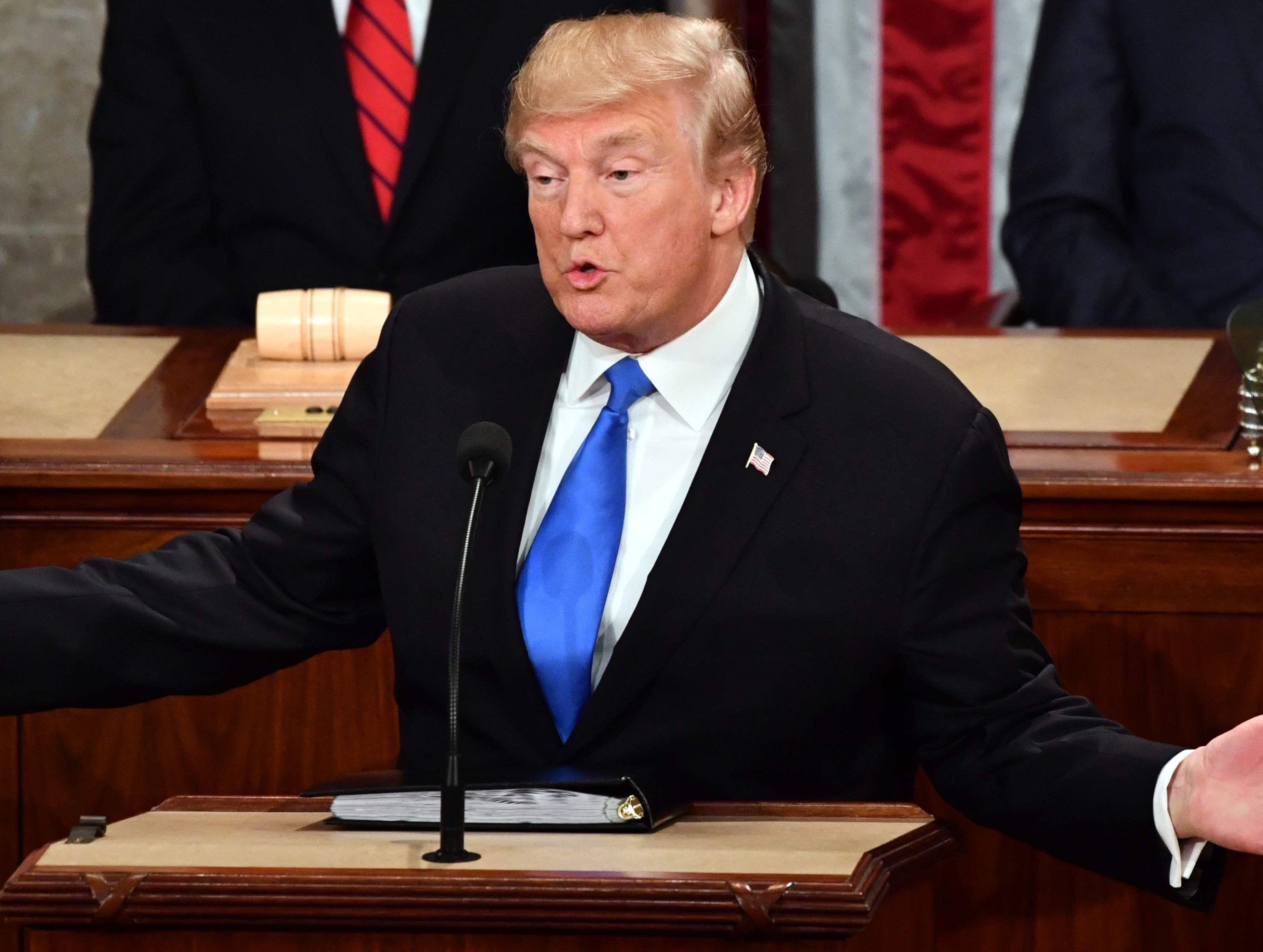 President Donald Trump during the 2018 State of the Union address.