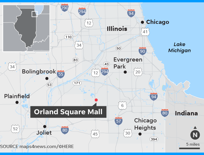 Orland Square Mall shooting: 1 killed, suspect at large