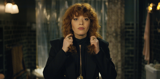 "Natasha Lyonne plays Nadia in a seemingly escapable party in series ""Russian Doll."""