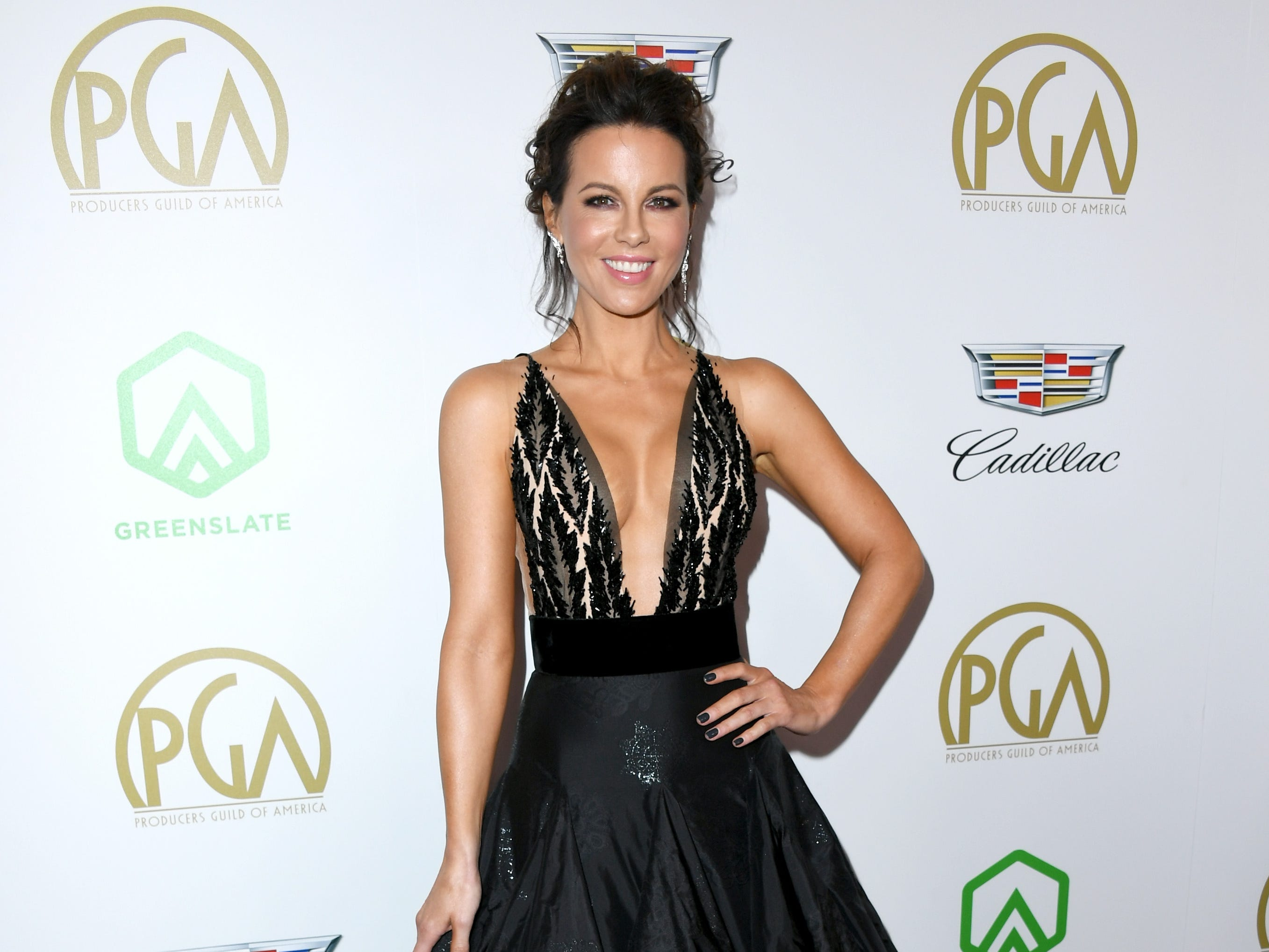 BEVERLY HILLS, CA - JANUARY 19:  Kate Beckinsale attends the 30th annual Producers Guild Awards at The Beverly Hilton Hotel on January 19, 2019 in Beverly Hills, California.  (Photo by Jon Kopaloff/FilmMagic) ORG XMIT: 775276067 ORIG FILE ID: 1085408886