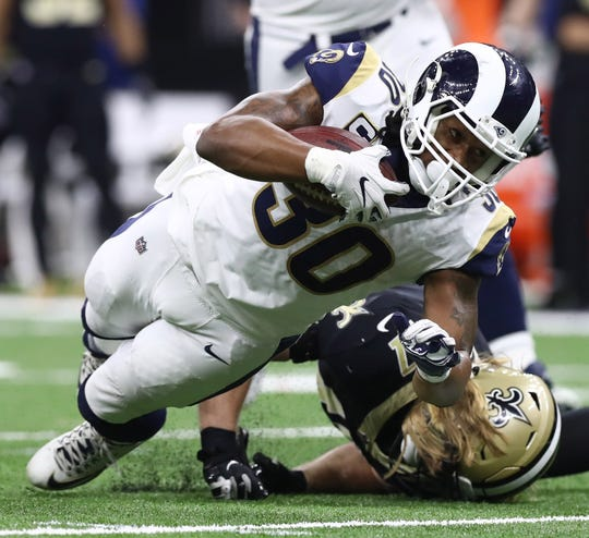 Todd Gurley had just four carries for 10 yards rushing in the NFC Championship.