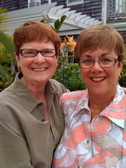 Mary Walsh, left, and Bev Nance at their wedding on July 30, 2009, in Provincetown, Massachusetts.
