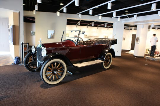 A 1920 Hupmobile is on display at the Pro Football Hall of Fame as an homage to the birth of the NFL.