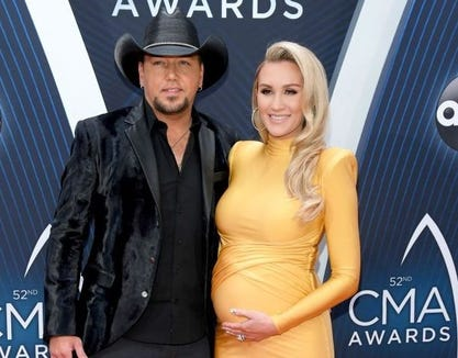 Jason Aldean's wife, Brittany, showed a look at her growing pregnancy bump on Instagram, which is looking a bit uncomfortable.
