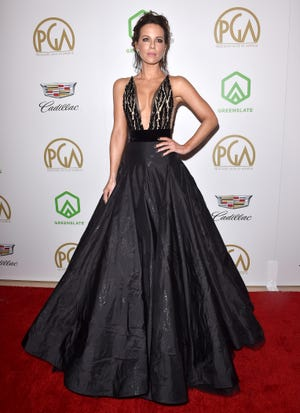 Kate Beckinsale, seen here at the Producers Guild Awards on Jan. 19, may not make it to Sunday's Screen Actors Guild Awards after suffering a ruptured ovarian cyst this weekend.