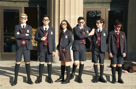 "Estranged super-powered siblings unite in ""The Umbrella Academy."""