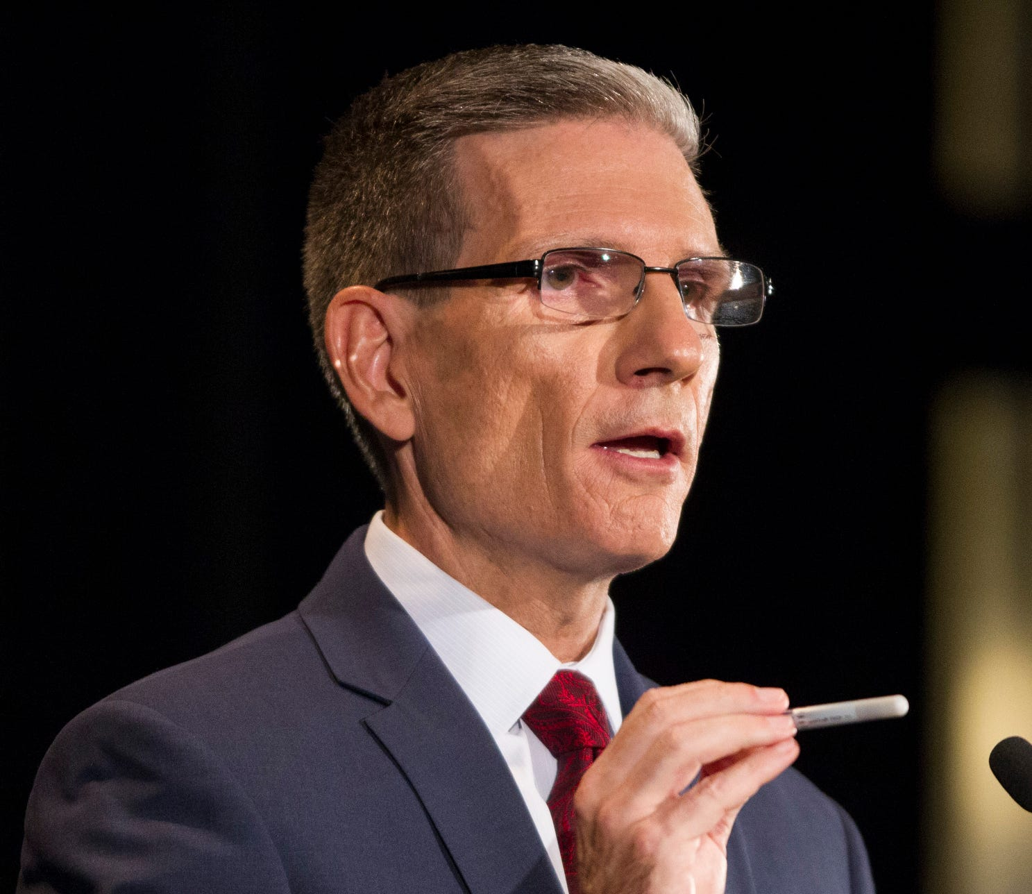 Former U.S. Rep. Joe Heck, R-Nev., now the chairman of the National Commission on Military, National, and Public Service, during his 2016 senate campaign.