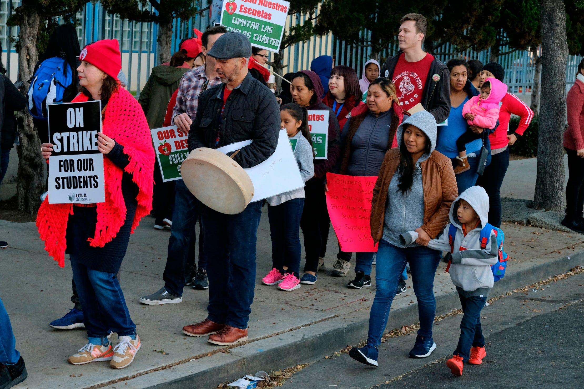 Los Angeles' striking teachers reach 'historic' settlement with school district