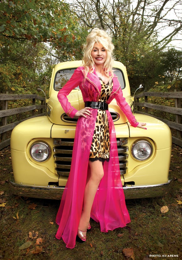 """The iconic pink dress from the """"Backwoods Barbie"""" album cover and music video."""