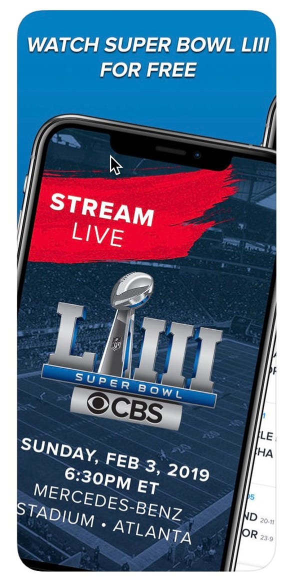 CBS Sports app to watch Super Bowl for free