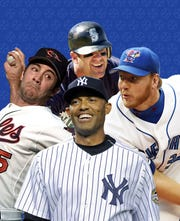 The 2019 Baseball Hall of Fame class: Mariano Rivera, Edgar Martinez, Roy Halladay and Mike Mussina.