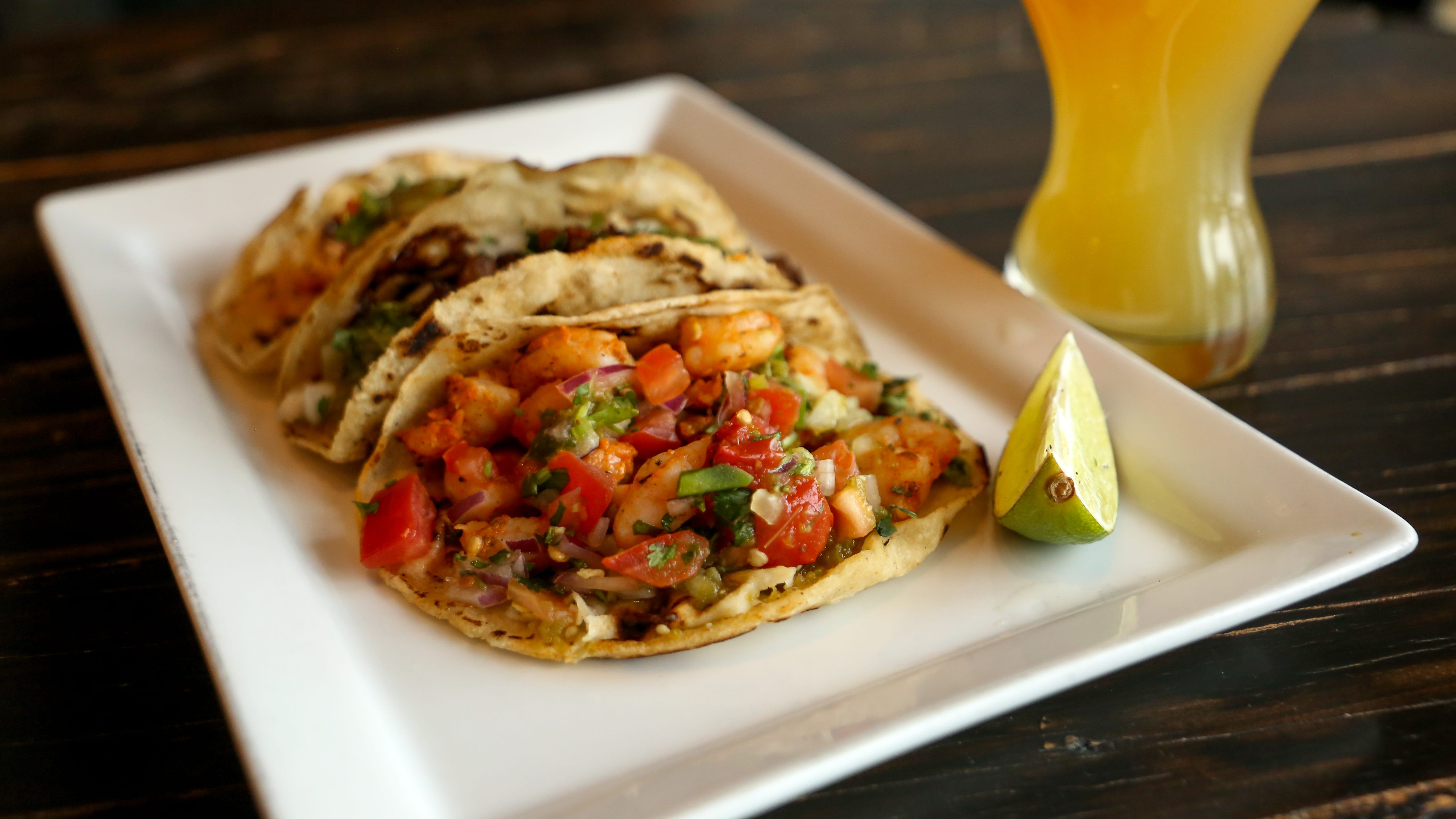 The assorted tacos are not on the menu – they are served only during early evening and late-night happy hours, and have been a smash hit with locals.
