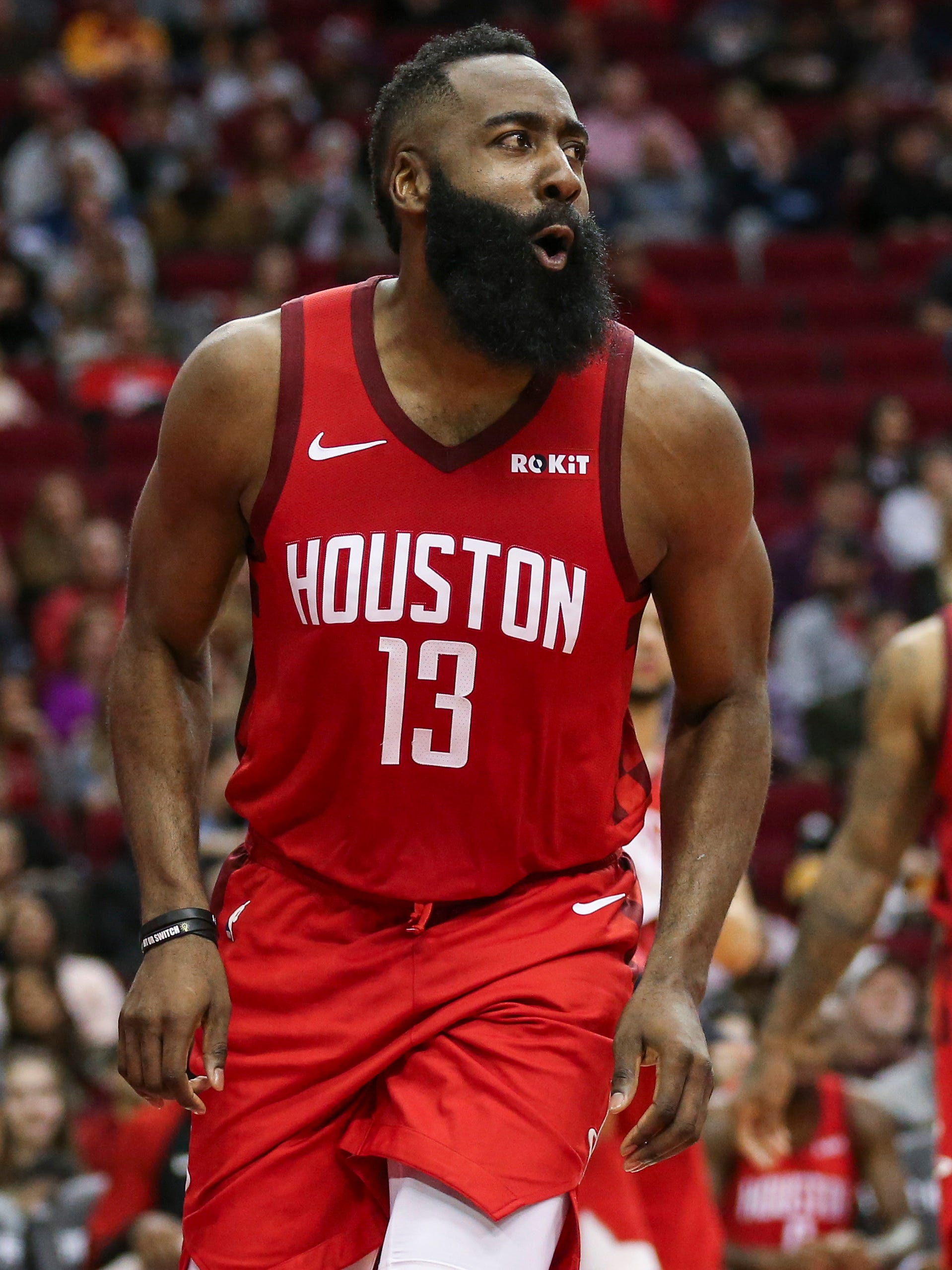 James Harden is averaging 42.3 points during his streak of 30-point games.