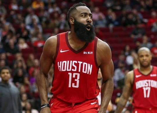James Harden entered Wednesday averaging 35.7 points per game.