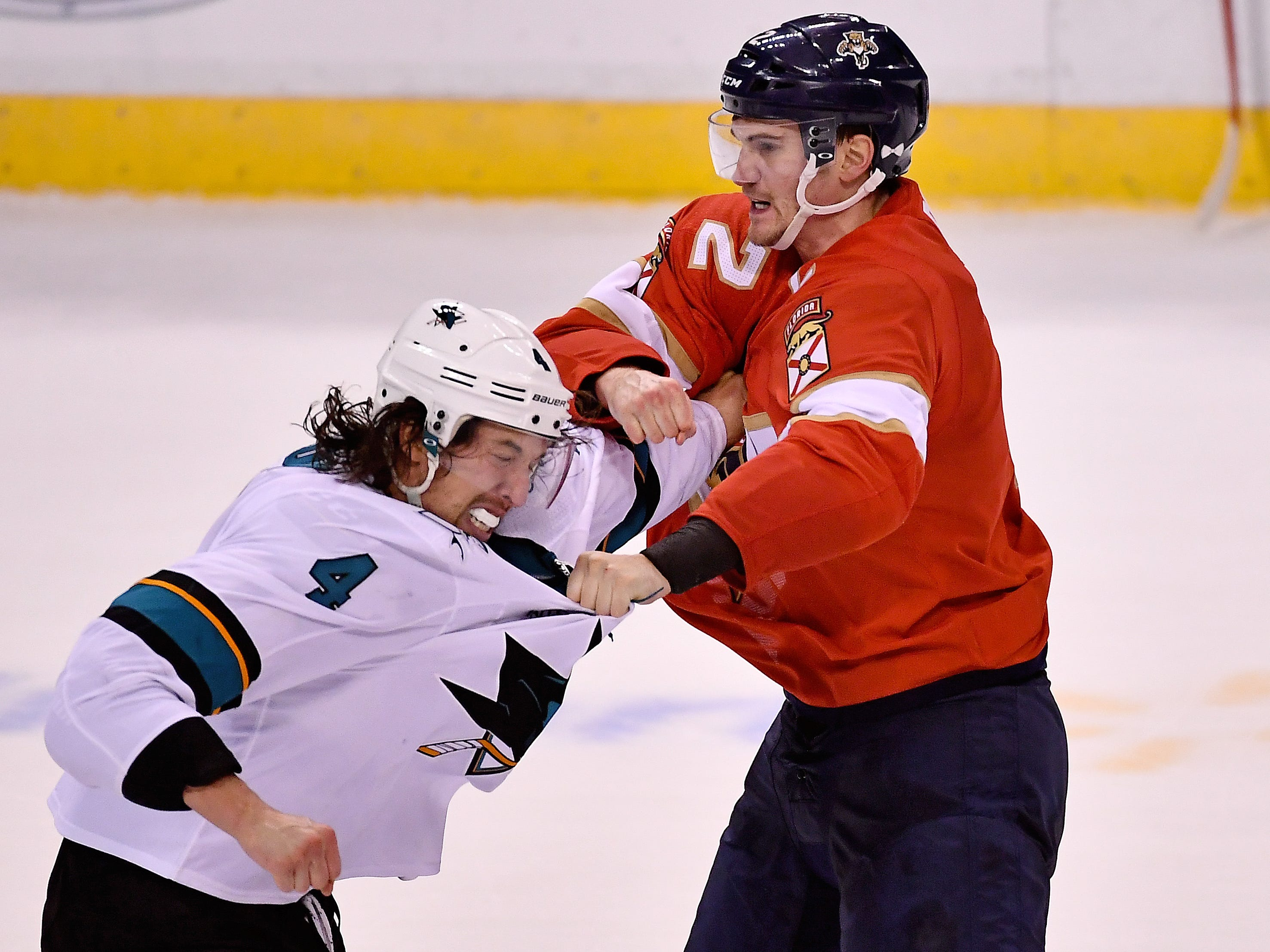 Jan. 21: San Jose Sharks' Brenden Dillon vs. Florida Panthers' Josh Brown.
