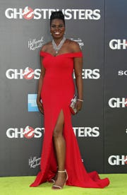 Leslie Jones went on the pitch for the premiere of