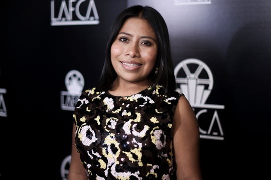 Yalitza Aparicio attends the 44th Annual Los Angeles Film Critics Association Awards at the InterContinental Century City Hotel on Saturday, Jan. 12, 2019, in Los Angeles. (Photo by Richard Shotwell/Invision/AP) ORG XMIT: CAPS101
