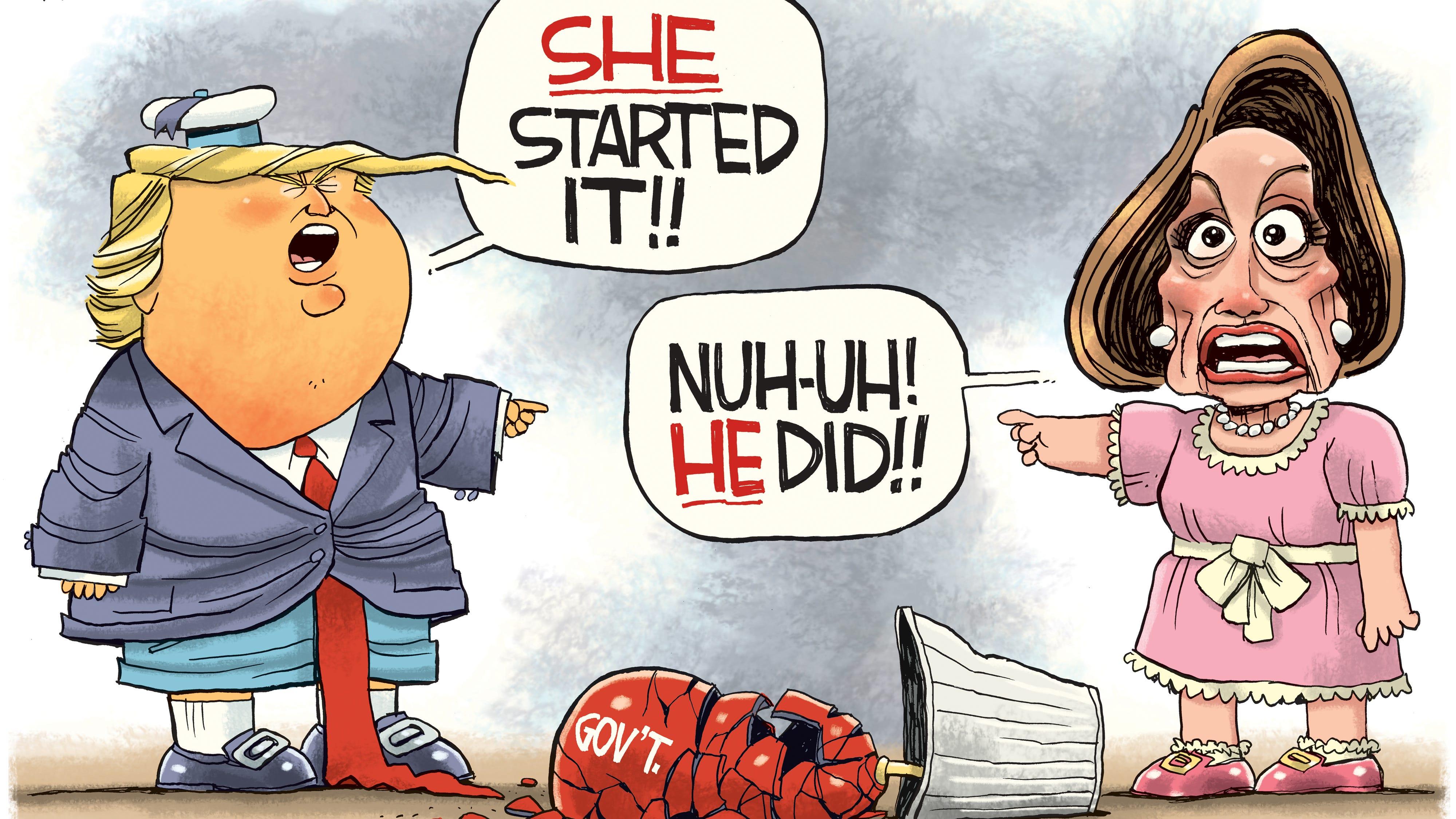 Trump Pelosi brats