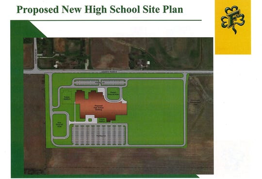The Freedom Area School District proposes to build a new high school on land it owns along Outagamie County N.