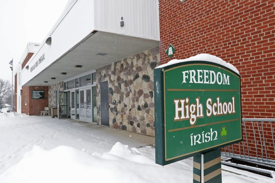 Freedom High School would be converted to a middle school for seventh- and eighth-graders if a new $56 million high school is built on Outagamie County N. Voters will decide the issue in an April 2 referendum.