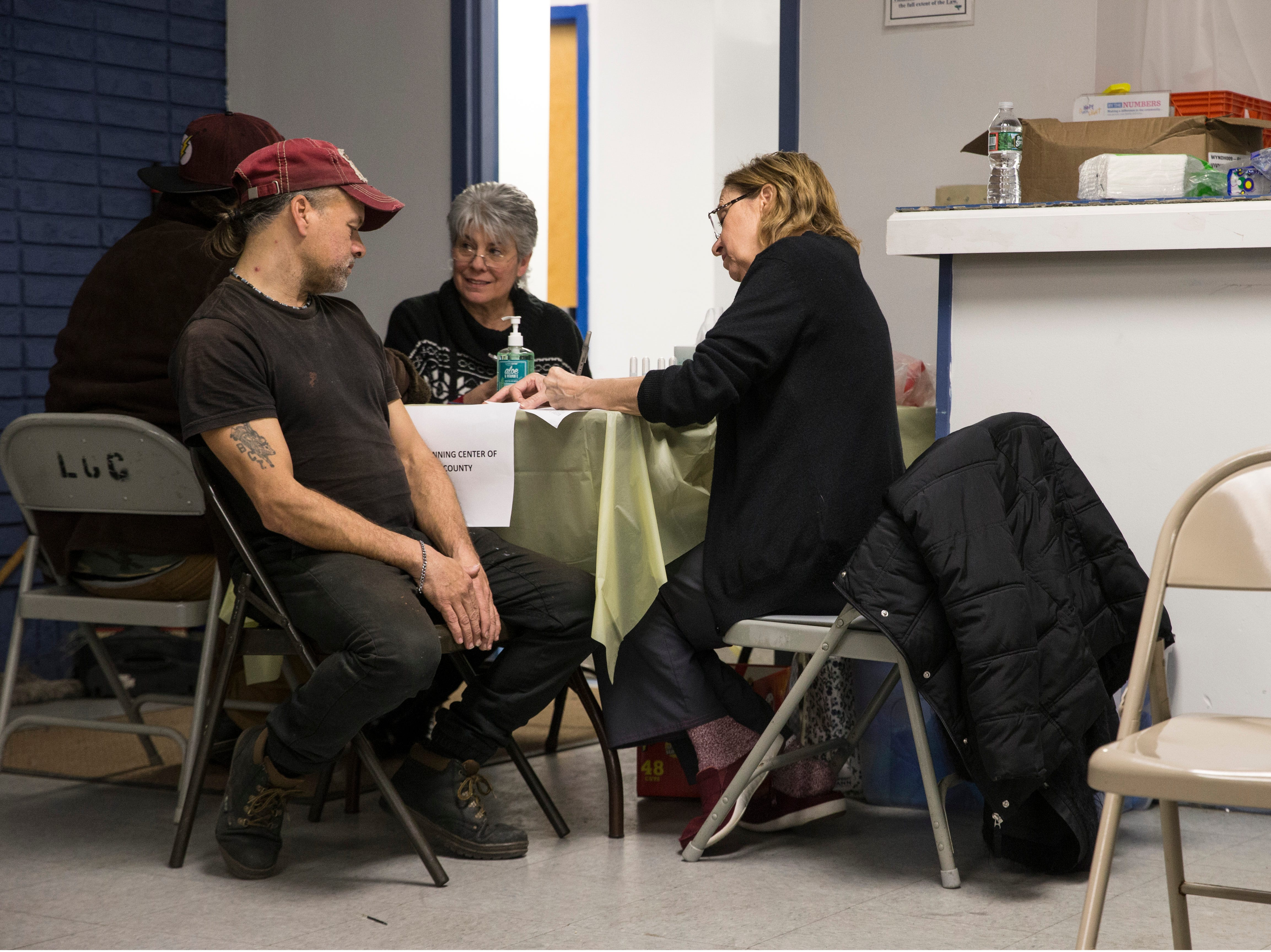 Billy Mills checks in to get help with his situation. New Jersey housing advocates conduct the state's annual NJCounts, a point-in-time count of homelessness.       Lakewood, NJWednesday, January 23, 2019
