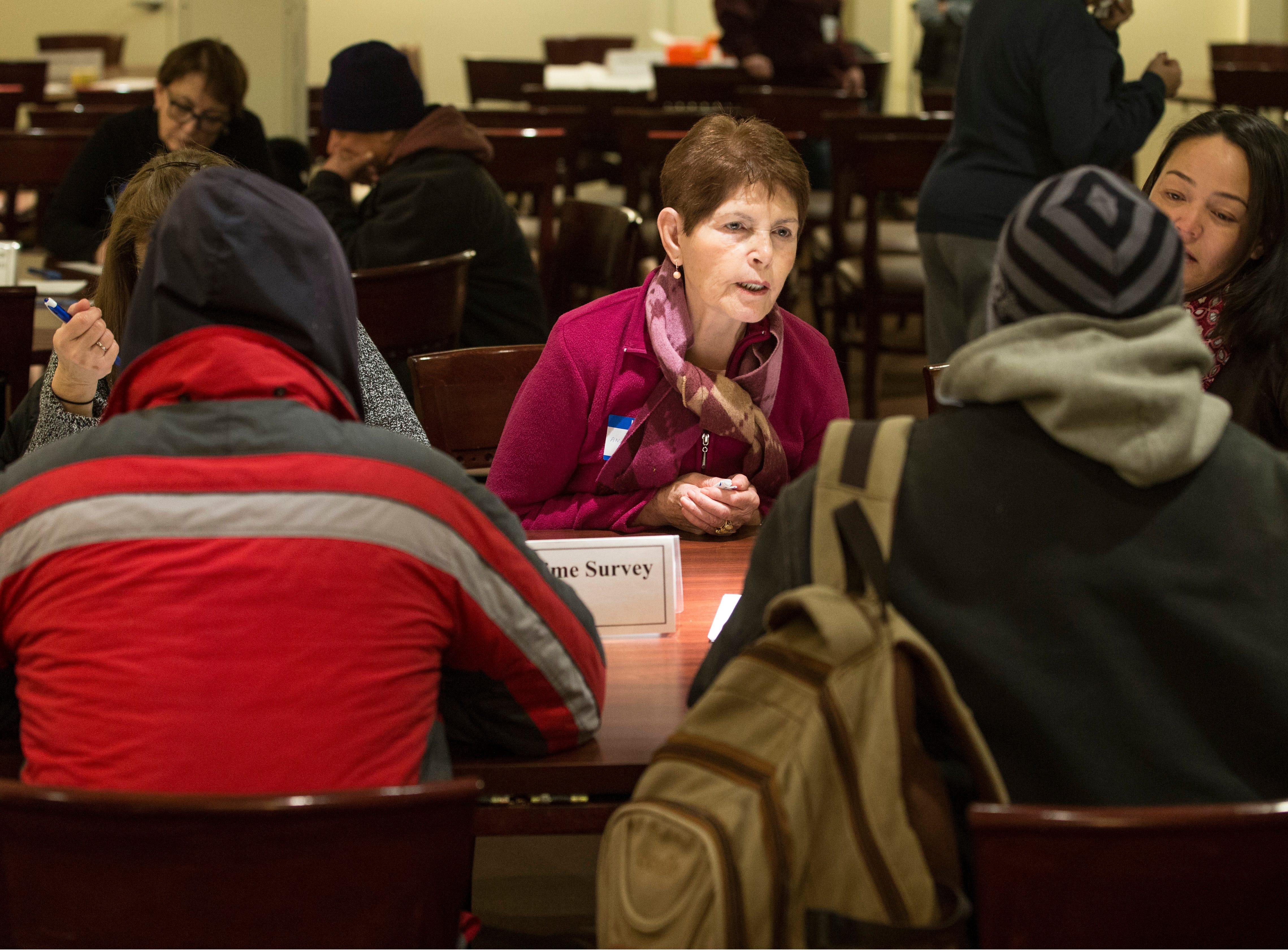 Homeless, or those living in substandard housing, check in to receive clothing, food, and a medical checkup. New Jersey housing advocates conduct the state's annual NJCounts, a point-in-time count of homelessness.       Freehold, NJWednesday, January 23, 2019