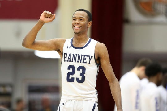 The Ranney School's Scottie Lewis in action against Federal Way during a high school basketball game at the Hoophall Classic, Monday, January 21, 2019, in Springfield, MA.