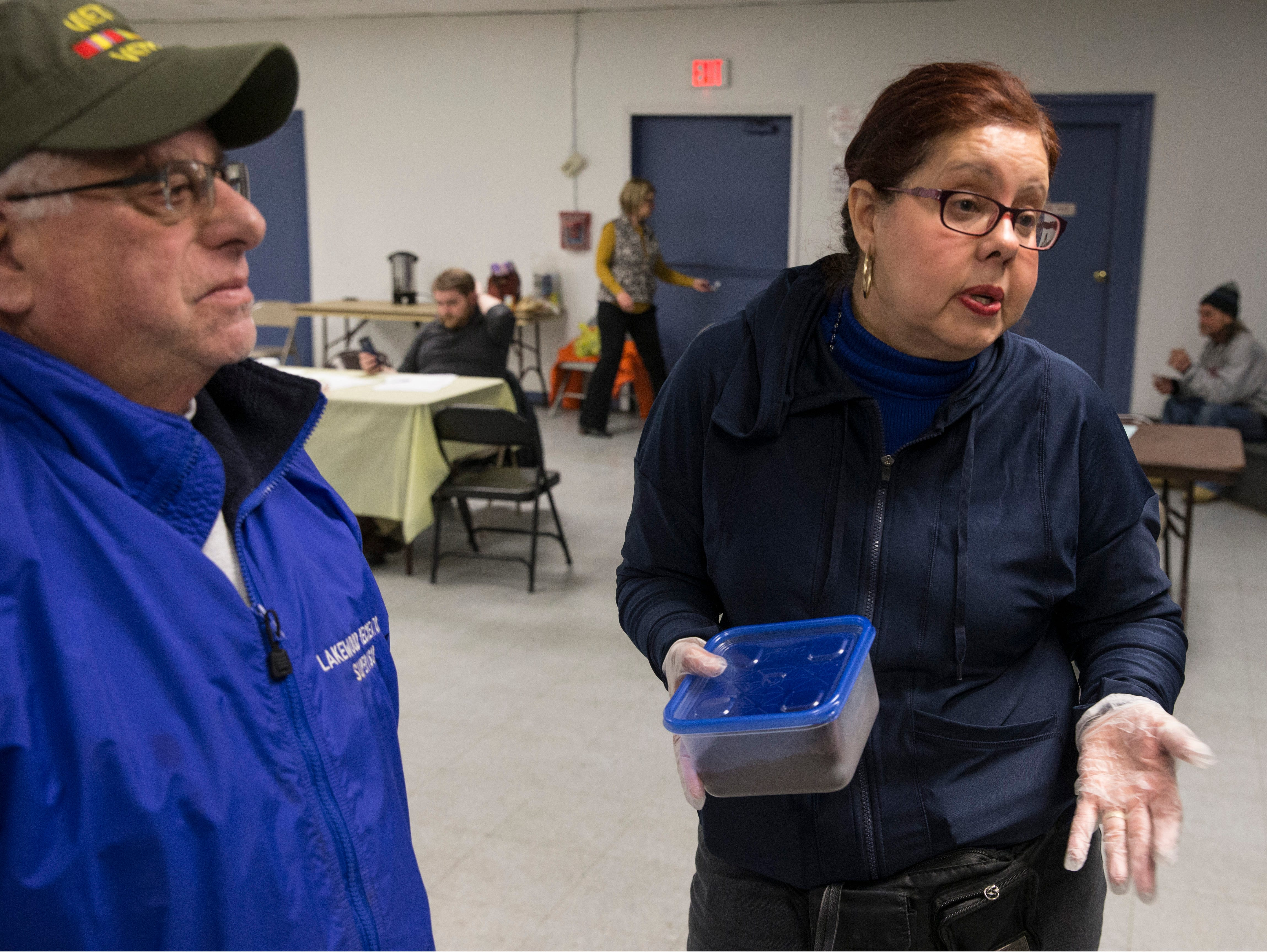 Jeff Shapiro, supervisor, Lakewood Recreation, and Wanda Alfaro, Ending Homeless Program, talk about the services offered at Lakewood Community Center. New Jersey housing advocates conduct the state's annual NJCounts, a point-in-time count of homelessness.       Lakewood, NJWednesday, January 23, 2019
