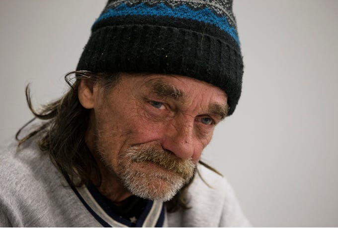 A homeless man waits for a warm cup of coffee. New Jersey housing advocates conduct the state's annual NJCounts, a point-in-time count of homelessness.       Lakewood, NJWednesday, January 23, 2019