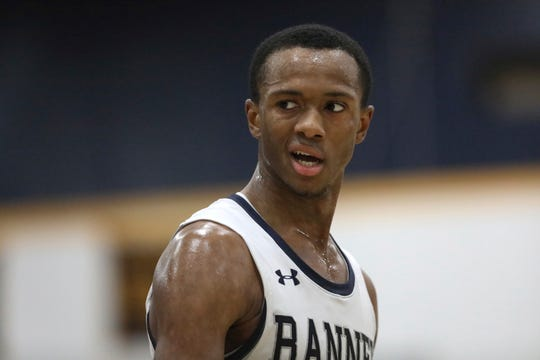 Ranney School's Scottie Lewis is seen against Macduffie School during a high school basketball game on Sunday, January 13, 2019 in the Bronx, NY. Macduffie School won the game.