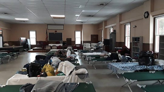 The Code Blue warming center at Toms River's Riverwood Park recreation building.