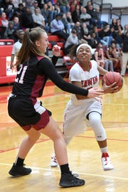 Erwin hosted Asheville in girls basketball on Jan. 22, 2019. The Lady Cougars defeated the Lady Warriors 54-42.