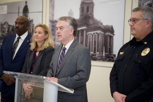 Buncombe County DA Todd Williams held a press conference to discuss Friday's Amnesty Day Jan. 23, 2019.