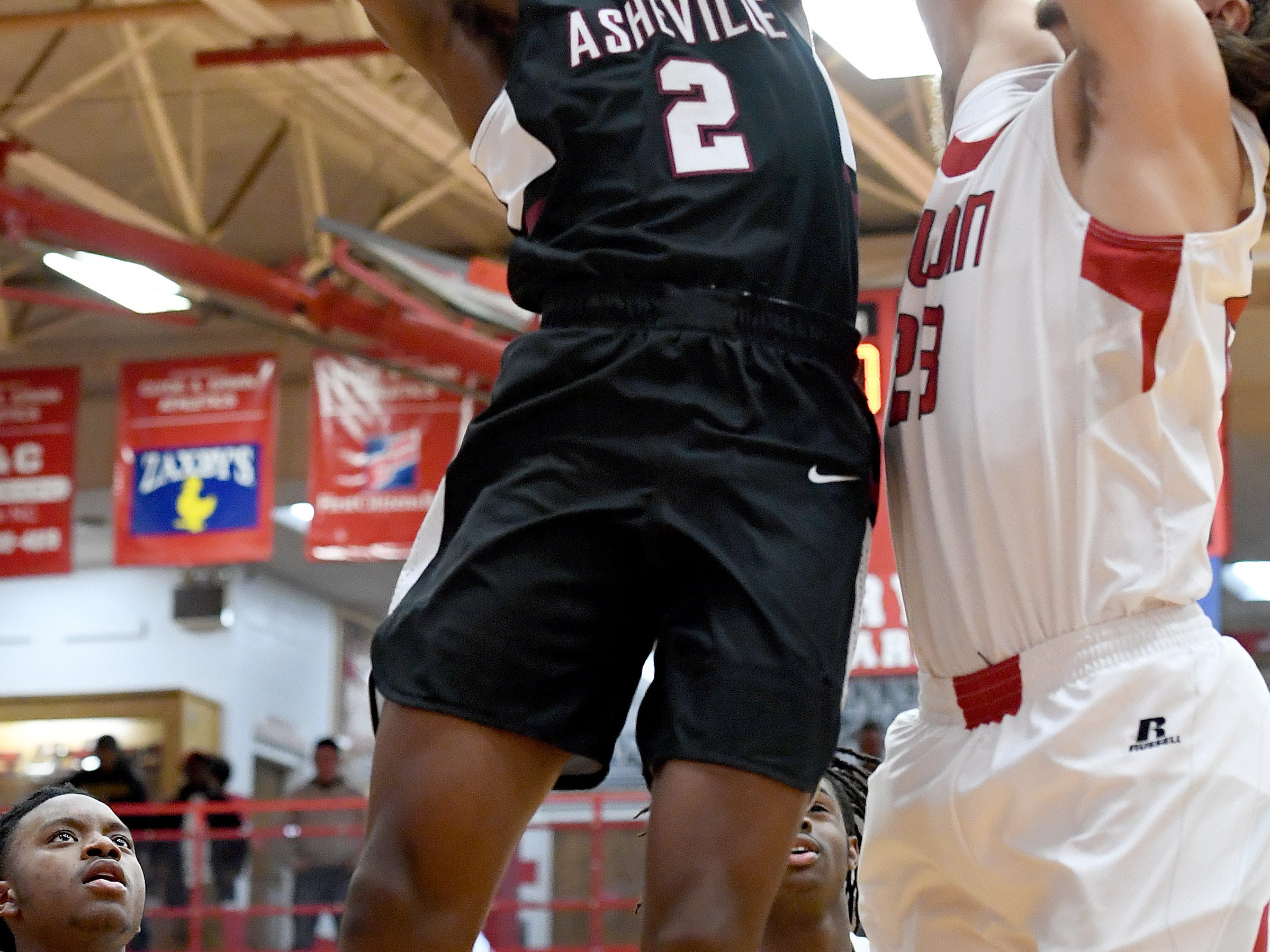 Erwin hosted Asheville in boys basketball on Jan. 22, 2019. The Cougars defeated the Warriors 57-55.