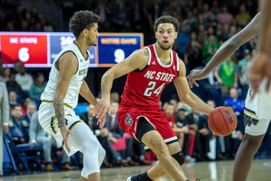 Battle Creek's Devon Daniels, a former All-City player at Lakeview, is now a starting guard for North Carolina State.