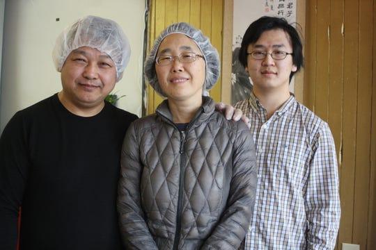 From left: Yingquan Yan, Zhengxuan Huang and Lizhi Yan are the owners of Beijing Dumpling in Binghamton.