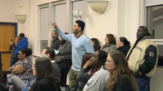 Tuesday's Binghamton School Board meeting was standing room only as the community demanded action regarding the alleged strip search of four middle school girls last week.