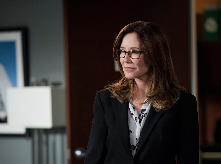 Actor Mary McDonnell, raised in Ithaca, on TNT's 'Major Crimes.'