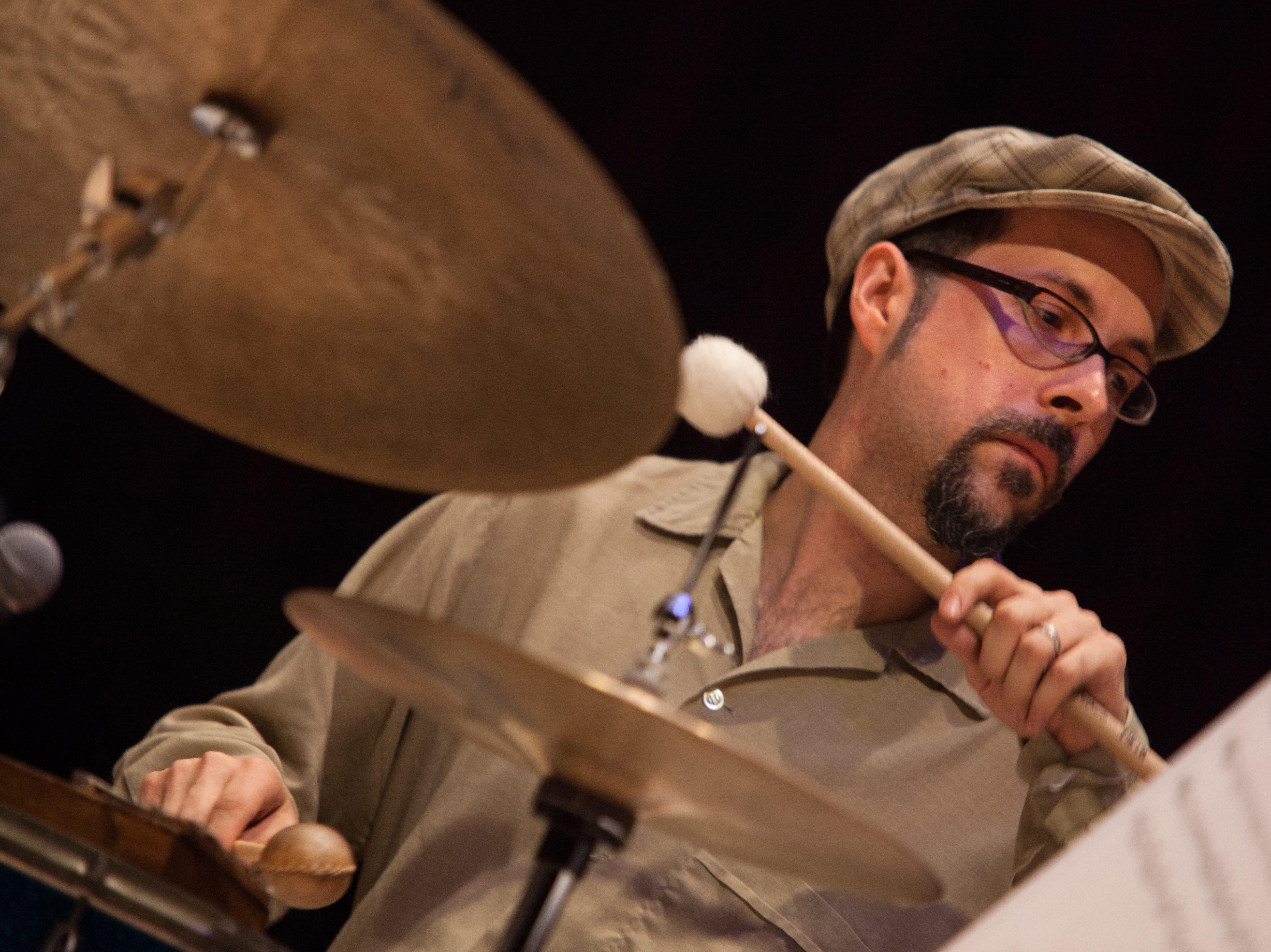 Jazz drummer, composer  and Binghamton native John Hollenbeck.