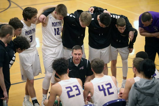 North Kitsap boys basketball coach Scott Orness and the Vikings are schedule to return to Class 2A West Central District tournament play on Wednesday.